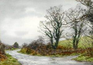 Wet Day Near Skibbereen, Co. Cork 1985 by Frank Egginton.