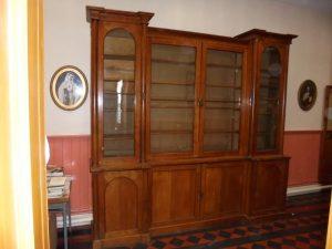 A Victorian bookcase.