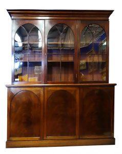 Irish three door library bookcase