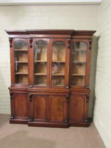 A four door Victorian breakfront bookcase