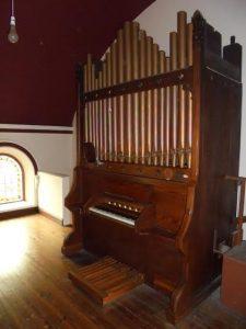 A Victorian pipe organ