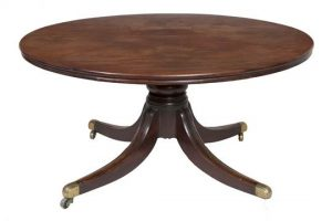 An Irish regency mahogany circular table made 5,000 at hammer.