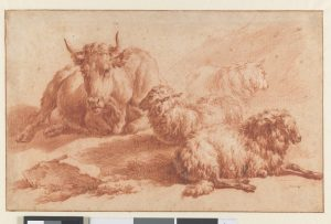 A Recumbent Cow and Three Sheep, Adriaen van de Velde, c. 1671