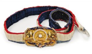 "WILLIAM HARRISON ""JACK"" DEMPSEY (1895-1983) A 14K GOLD, DIAMOND AND ENAMEL WORLD HEAVYWEIGHT TITLE BELT 1919"