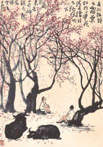 Li Keran (1907-1989) - Buffaloes under autumn tree