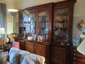 A Georgian glazed bookcase.