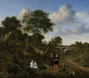 Couple in a Landscape, Adriaen van de Velde, 1667.