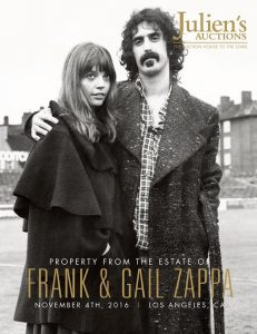 The catalogue cover image of Frank and Gail Zappa