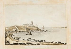 George Stackpoole will bring this Henry Morgan work from 1849  entitled Cork Harbour Light House - Looking out to sea with lithography by William Spreat of Exeter