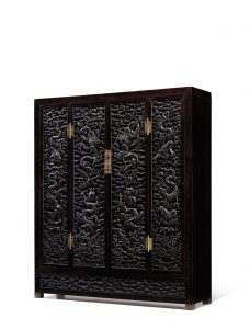 An exceptional and massive cabinet with Zitan carved dragon panels (US$3.9-5.2 million)
