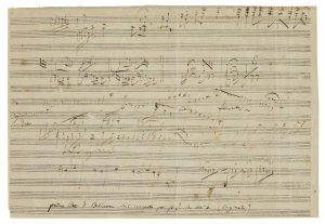 "An unpublished sketch-leaf for Ludwig van Beethoven's ""Emperor"" Concerto"