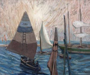 Grace Henry HRHA (1868-1963) Sailing Boats, Chioggia (4,000-6,000)