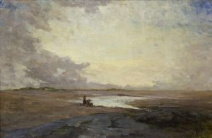 Nathaniel Hone RHA (1831-1917) Malahide Sands with Figures (20,000-30,000)