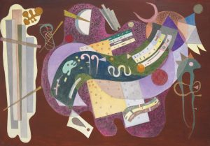 Wassily Kandinsky (1866-1944) Rigide et curb signed with monogram and dated '35'