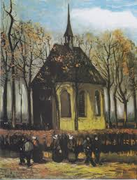 Vincent van Gogh - Congregation Leaving the Reformed Church in Nuenen, 1884