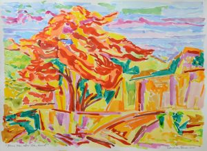 'Flame Trees after John Russell 2015' by David Van Nunen