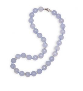 A CHALCEDONY AND DIAMOND NECKLACE, BY MARGHERITA BURGENER (3,500-4,500)