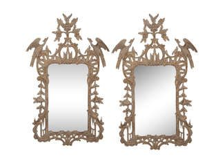 This pair of Irish George III gilt wood mirrors made 20,000 at hammer,
