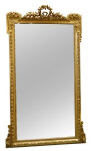 A late 19th century French giltwod pier mirror (2,000-3,000)