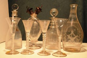 Part of the Knollys Stokes collection of Irish glass