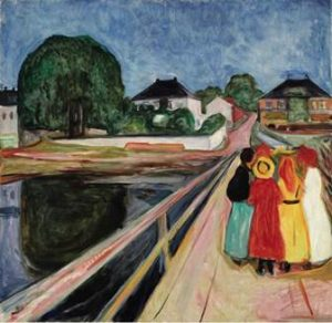 Edvard Munch - Girls on the Bridge.