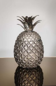 A large pineapple form champagne ice bucket by Mauro Manetti, Florence 1960 (300-500)