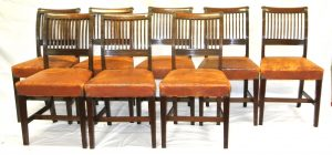 A set of Cork 11 bar chairs