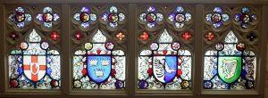 The Clarke Studios gothic design landscape panel of The Four Provinces of Ireland (1,000-1,500)