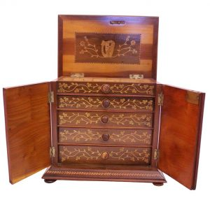 A Killarney wood jewellery box