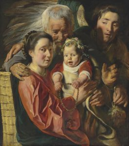 The Holy Family with an Angel by Jacob Jordaens (1593-1678) © Christie's Images Limited 2016