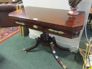 Regency Crossbanded Fold Over Games Table  (400-700)