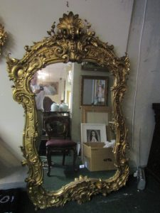 Antique Giltwood Carved Mirror (600-900)