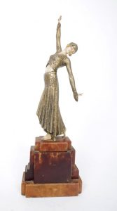 Chiparus Art Deco bronze and ivory figure of a dancer (!,000-1,500)