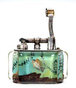 Mid 20th century Dunhill Aquarium table lighter ?(2,000-5,000)