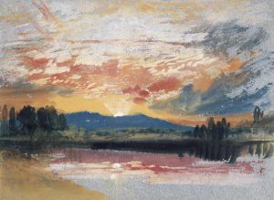 JMW Turner (1775-1851) Sunset over Petworth Park, Sussex, c.1828 Photo © National Gallery of Ireland